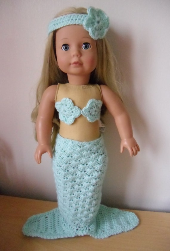 Crochet Pattern For Mermaid Outfit For 18 Inch Doll From