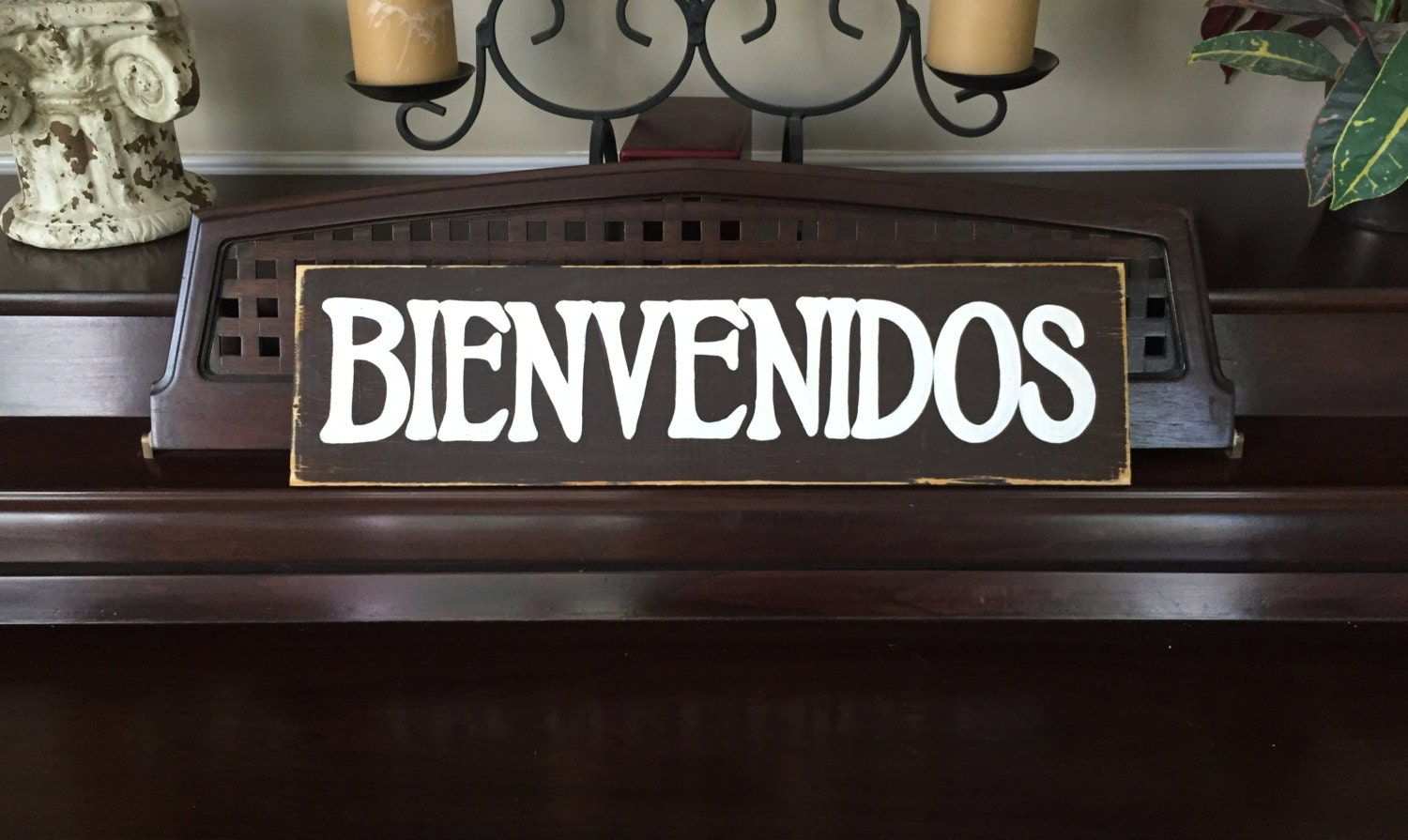 Barn Stars Home Decor Bienvenidos Welcome Sign Plaque Spanish Southwest Decor Style