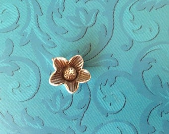 Sterling Silver Tropical Flower Charm Pendant