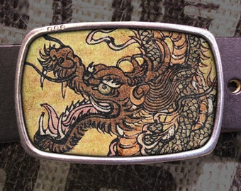 Dragon Belt Buckle - Vintage Inspired Dragon 615