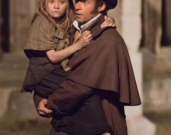ORDER costumes CUSTOM made to order les miserables ballet costume tattered rags unfinished brown shabby dancer rustic dress shawl