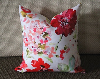 Luxurious Rebecca Floral Pillow Cover,Colourful Floral Pillow Cover,Watercolor Floral Pillow Cover,Outdoor pillows,flower pillow,Pillows 270