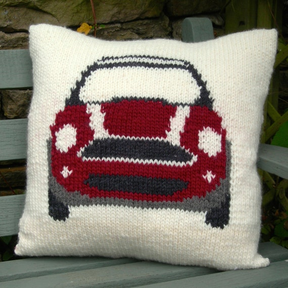 Knitted Cushion Pattern Books : PDF Knitting Pattern for a Cushion Cover based on the Mini