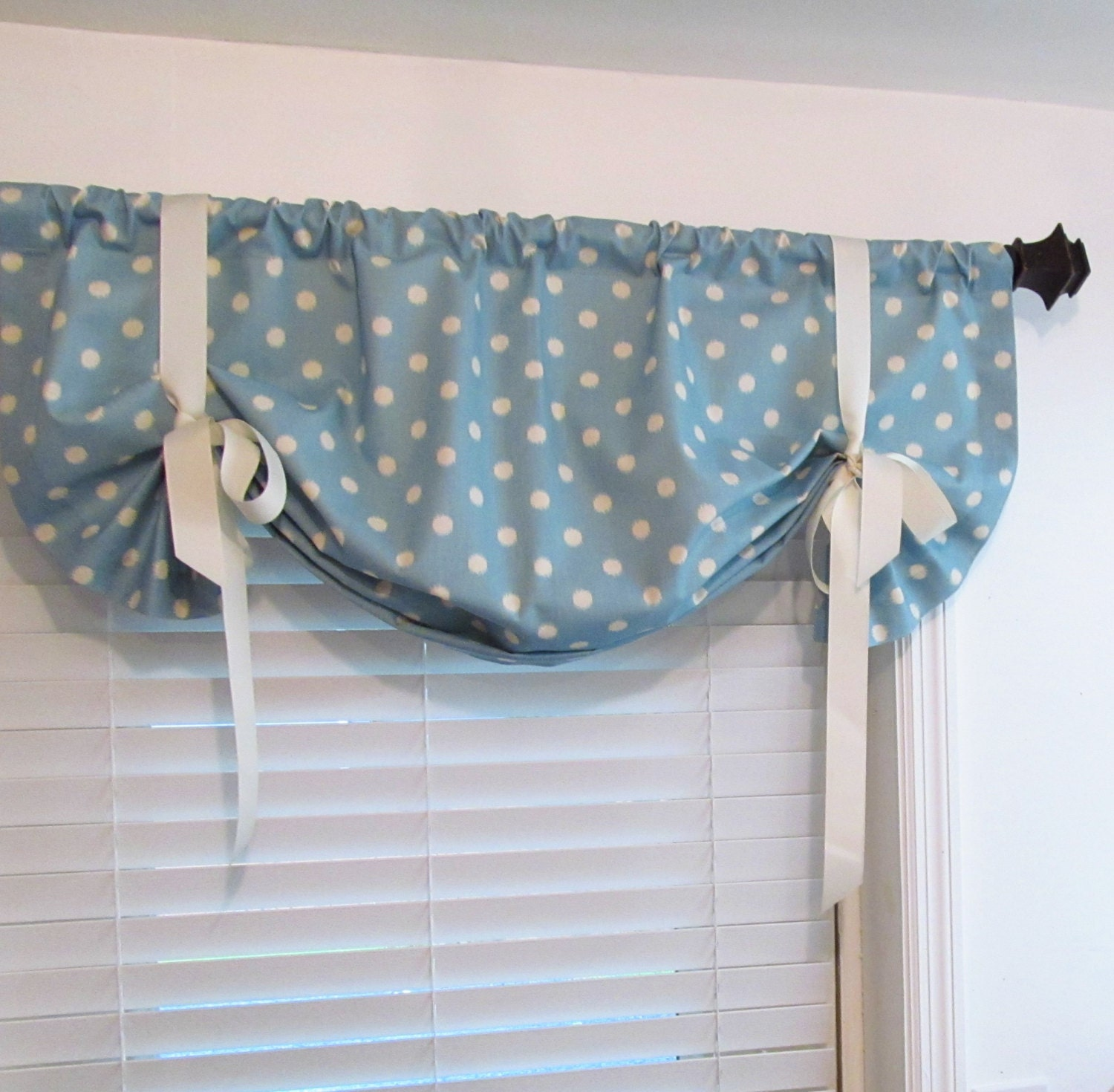 tie up window valance lined curtain balloon shades ikat. Black Bedroom Furniture Sets. Home Design Ideas