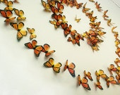 3D Wall Art Realistic Monarch Butterflies - Set of 100