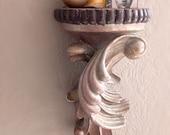 Ornate Architectural Shelf Shimmer Dusty Lavender