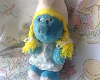 1981 Smurfette Plush By Peyo
