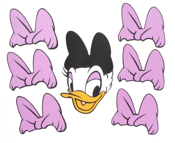 daisy duck bow coloring pages - photo#48
