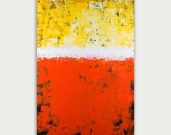 Original Abstract Art - Modern Painting - Yellow and Orange Art - Home Decorations - Canvas - Fine Art
