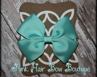 Aqua Hair Bow, Aqua Hairbow, Aqua Boutique Hair Bow, Aqua Hair Clip, Aqua Hairclip, Aqua Bow, summer hair bow, summer bow