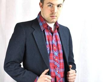 Vintage Mens Wool Suit XSmall Kuppenheimer Unisex 1980's Boys Suit Size 36 Unisex Womens Pant Suit