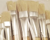 Chungking Paint Bristle Set 12 Brushes Made with Pig Back Hairs FREE SHIPPING