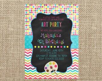 Little Artist Invite- Painting Party Invite-Casbury Lane