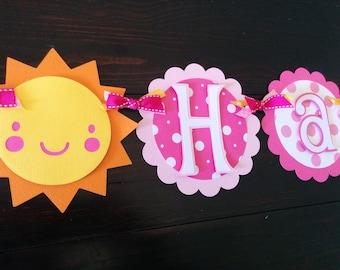 You are my Sunshine banner, sun theme, sunshine birthday