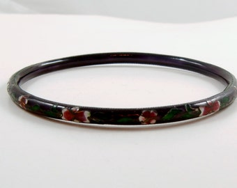 Cloisonne Bracelet Dainty Vintage Bangle