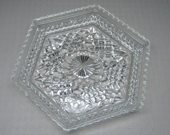 3 ( three )  ANCHOR HOCKING WEXFORD hexagon plates