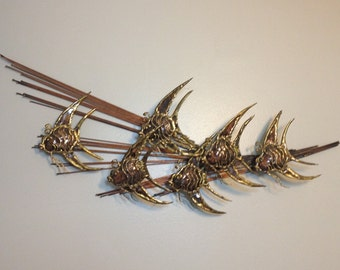 Mid Century Brutalist Metal Fish Wall Art