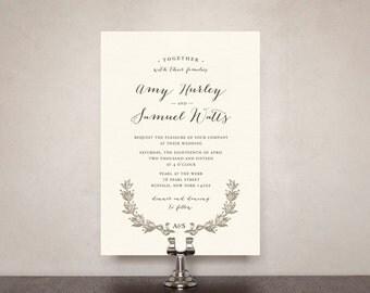 Love + Laurel Wedding Invitation Suite