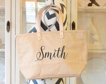 Custom Bag| Burlap Tote Bag|Custom Bag|Womens Accessory|Personalized Purse|Gift For Her|Beach Bag|Large Carryall Bag|Jute Tote|Custom Tote