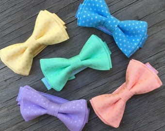 Coral Bow Tie - Pastel Ties - Mint Green Bow Tie - Yellow Ties - Pastel Bow Ties - Groomsmen Ties - Summer Wedding - Ringbearer Bow Tie