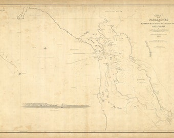 1850 Nautical Chart of San Francisco Bay