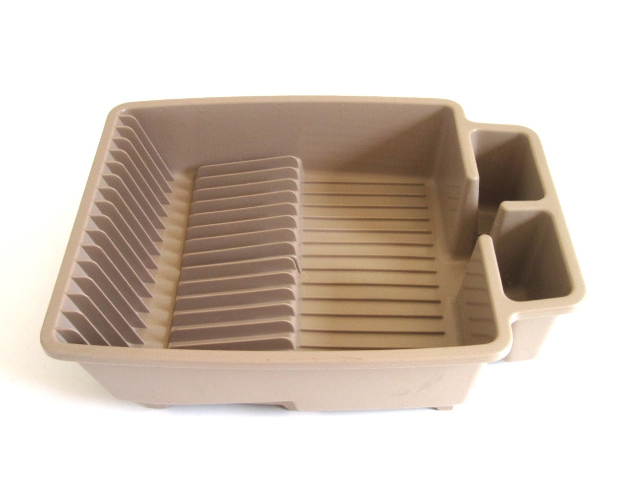 One Piece Plastic Dish Drying Rack Beige Unmarked Similar To