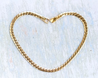 Chunky Golden Flat Chain Necklace - Modern Cleopatra
