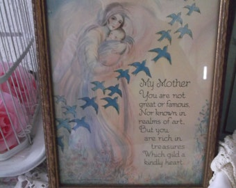 Antique Mother Poem Framed Print French Country Cottage