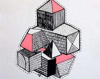 BLOCKS - Limited Edition Screen Print