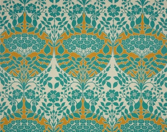 54025 - Joel Dewberry Botanique collection PWJD088 Leafy damask in Teal color - 1 yard