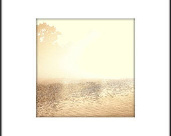 Pale Gold Metallic Photograph, Minimal Metallic, Abstract Modern Landscape Photography, Zen Interior, Modern Wall Art, Dreamy Landscape