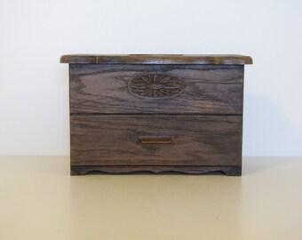 Vintage Lerner Faux Wood Desk Organizer