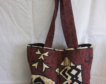 Hawaiian bark cloth bag