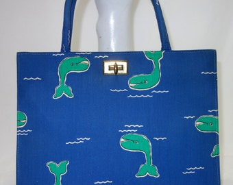 MARGARET SMITH Nautical Purse with Whales