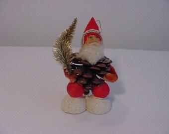 Vintage Santa Claus Pine Cone Christmas  Decoration   15 - 943