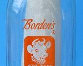 Borden's Quart Glass Milk Bottle