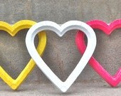 Choose Your Color Heart Picture Frame With Glass and Backing Bright Valentines Day Gift