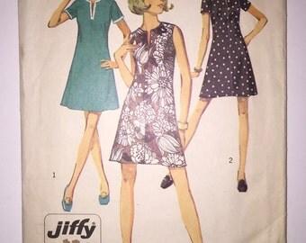 50% OFF COUPON CODE Vintage 70's Simplicity Pattern 8702 - Misses' Dress Size 16 1/2
