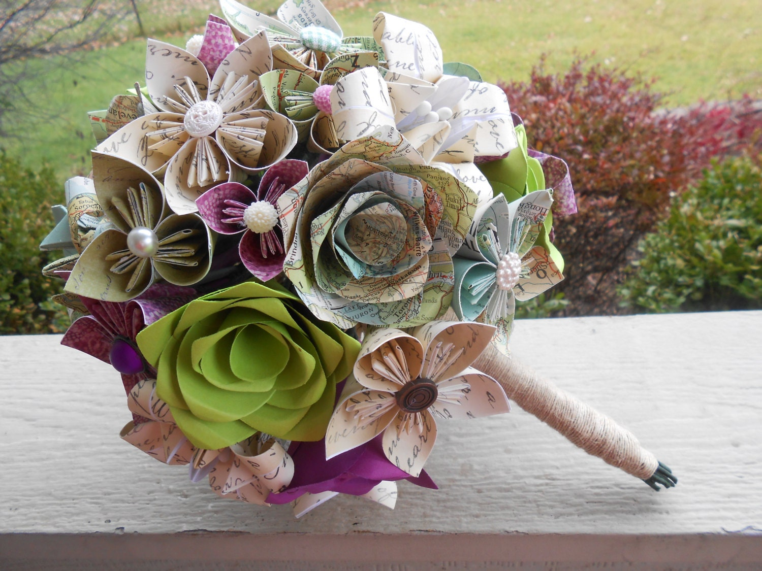 Wedding Bouquet Preservation Hawaii : Custom paper flower wedding bouquets you choose colors