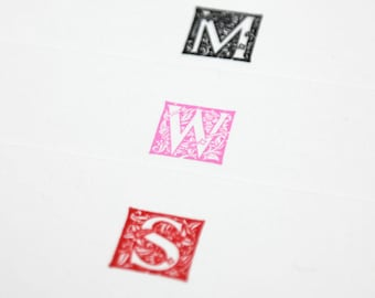 Custom Monogram Letterpress Notecards/Stationery - Set of 20 - Massey