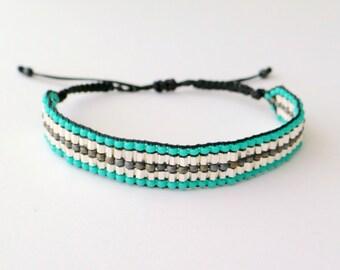Mixed Beaded Macrame Bracelet