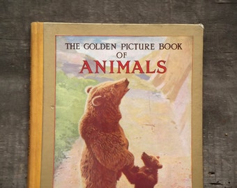 Animal picture book The Golden Picture Book of Animals vintage 1960s children's book