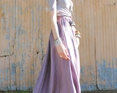 Lavender Maxi Skirt with Pockets