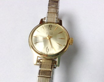 Slava women's watch soviet ladies vintage russian wrist watch export edition rare dial