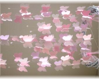 Pink Butterfly Mobile, Carousel Mobile, Harper Mobile, Nursery Bedding, Nursery Decor, Baby Shower Gift Wedding Decor, Wedding Mobile