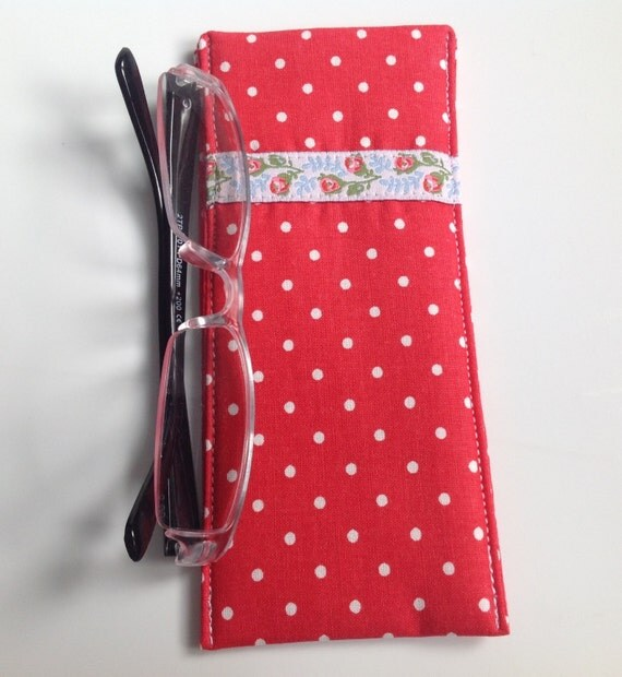 cath kidston red spot fabric glasses case. Black Bedroom Furniture Sets. Home Design Ideas