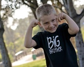 Little Brother or Big Brother Shirt // Size Newborn to 6 year // Short or Long Sleeve //  T-Shirt or Bodysuit  // Customize Colors
