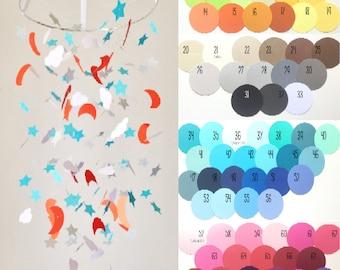 Custom Night Sky Mobile // Nursery Decor, Photo Prop, Baby Shower Gift, Crib Mobile.