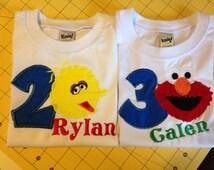 Personalized Sesame Street Onesie, Gown, Baby Lap Tee or Toddler Tee