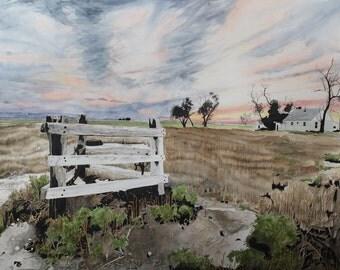 Fence Western Gothic western US - 11 x 14 print